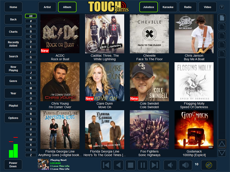TouchJams allows you to easily turn your Windows PC into a digital jukebox using your already existing music collection. Although TouchJams was designed specifically for use with a touch screen monitor, it